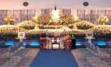 金龍寺大雲閣,生花祭壇大型葬250プラン祭壇例