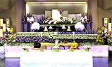 実相会館,生花祭壇一般葬120プラン祭壇例