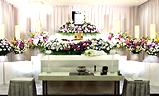 多磨葬祭場日華斎場,生花祭壇家族葬32プラン祭壇例