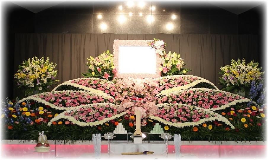 東京都 一般葬 安心 アートメモリ- 生花祭壇密葬 お葬式 花祭壇 料金 丁寧